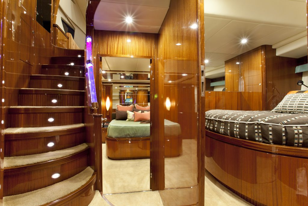 Inside a beautiful Yacht. This is what you get for the money