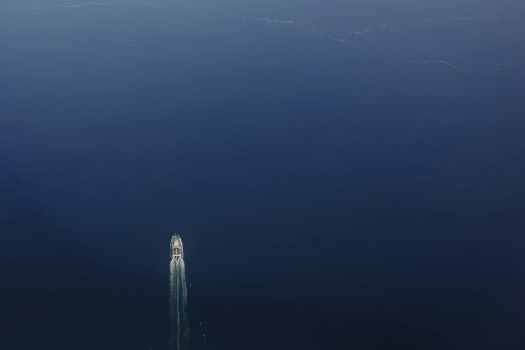 Boat on sea ocean